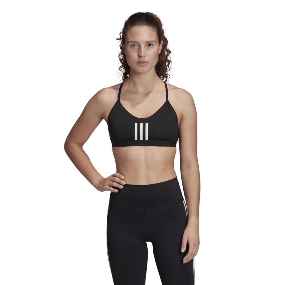 Adidas Women's 3 Stripe Mesh Sport Bra, product, variation 1