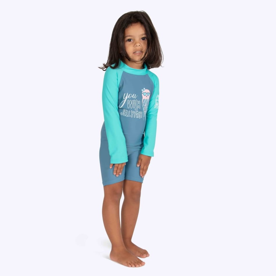 Second Skins Girls You Wish Jellyfish Long Sleeve Sunsuit (2-4), product, variation 2