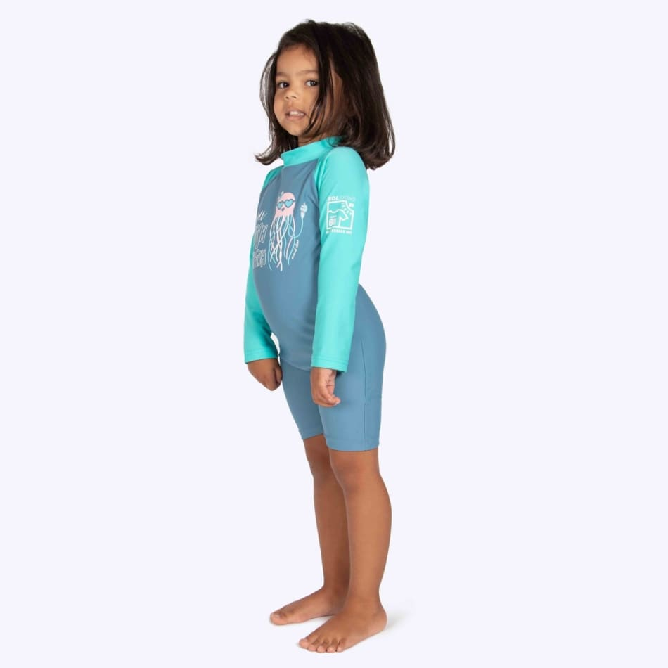 Second Skins Girls You Wish Jellyfish Long Sleeve Sunsuit (2-4), product, variation 3