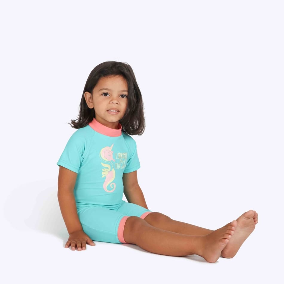 Second Skins Girls Unicorn of the Sea Poppersuit, product, variation 1