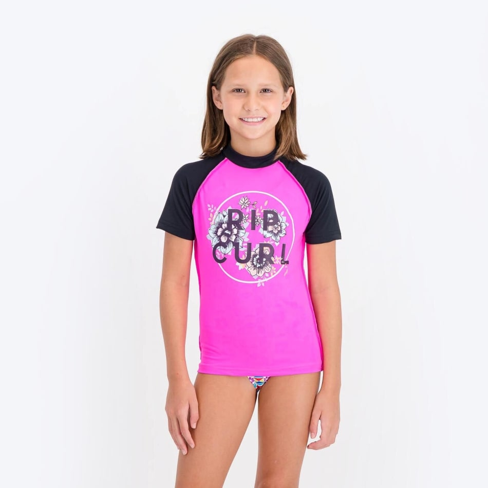 Rip Curl Girls Unicorn Short Sleeve Rashvest, product, variation 1