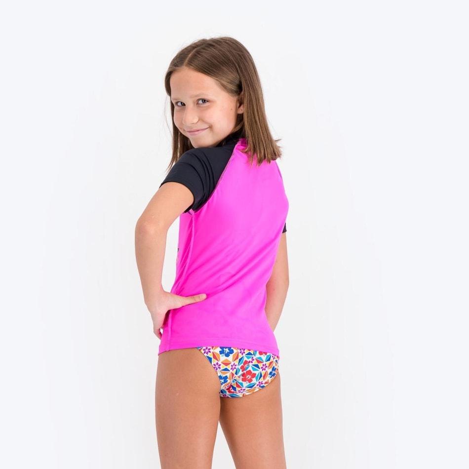 Rip Curl Girls Unicorn Short Sleeve Rashvest, product, variation 4