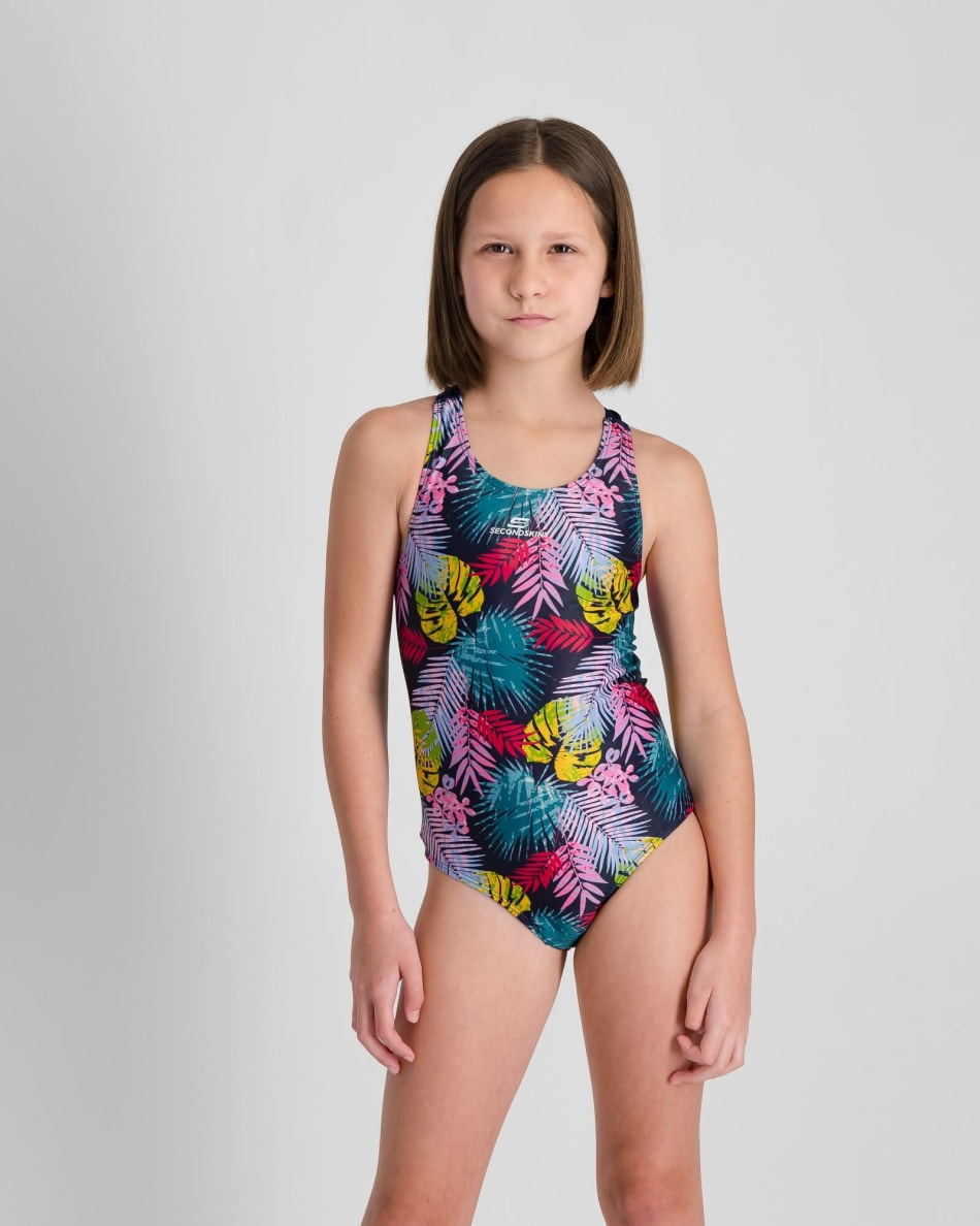 Second Skins Girls Floral Palm Barcelona 1 Piece, product, variation 1