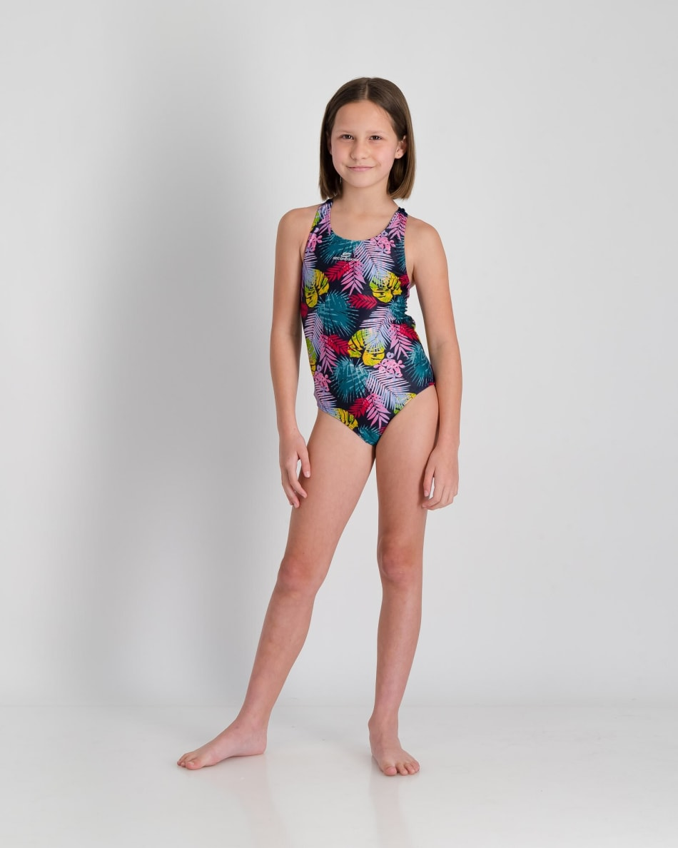 Second Skins Girls Floral Palm Barcelona 1 Piece, product, variation 3
