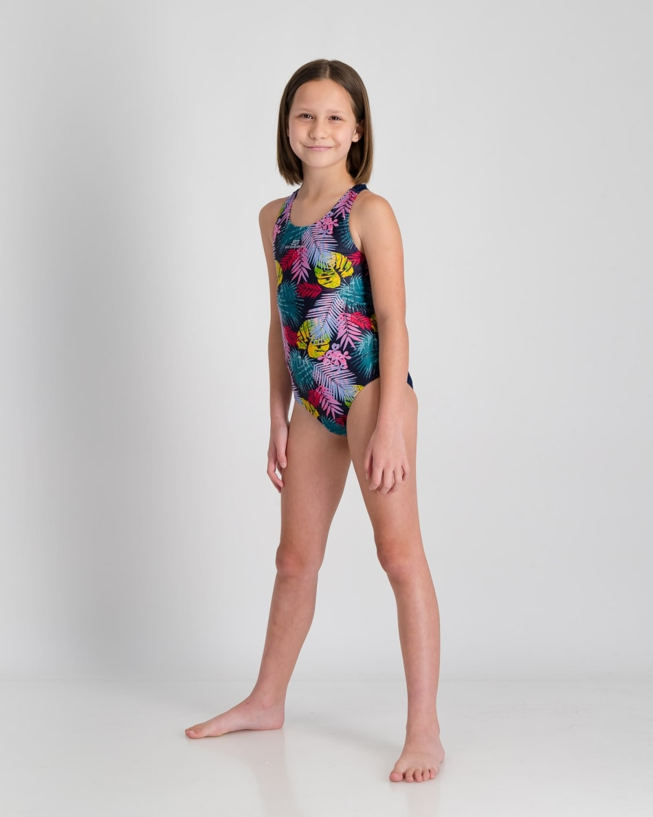 Second Skins Girls Floral Palm Barcelona 1 Piece, product, variation 4