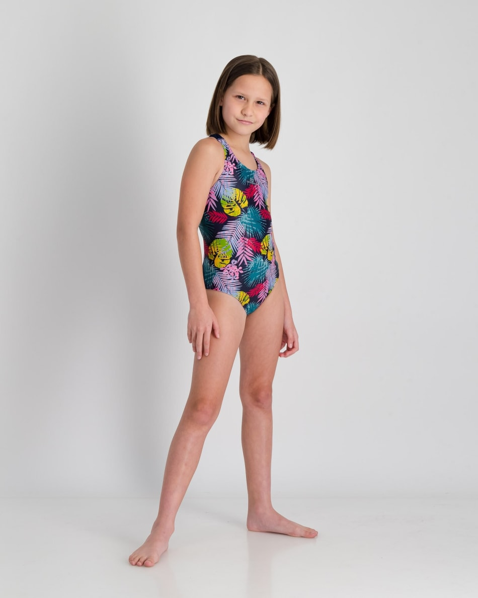 Second Skins Girls Floral Palm Barcelona 1 Piece, product, variation 5