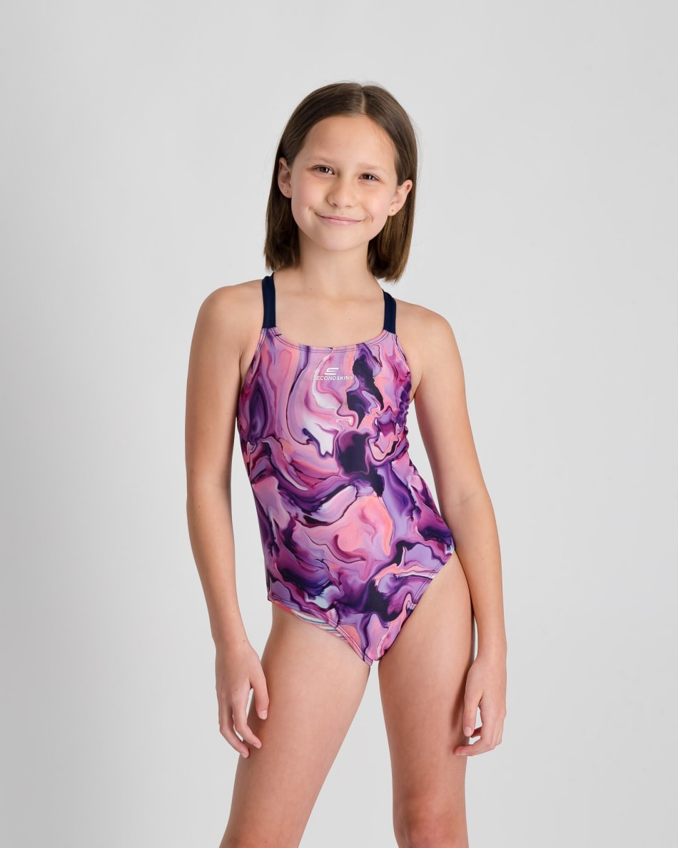 Second Skins Girls Magic Marble 1 Piece, product, variation 1
