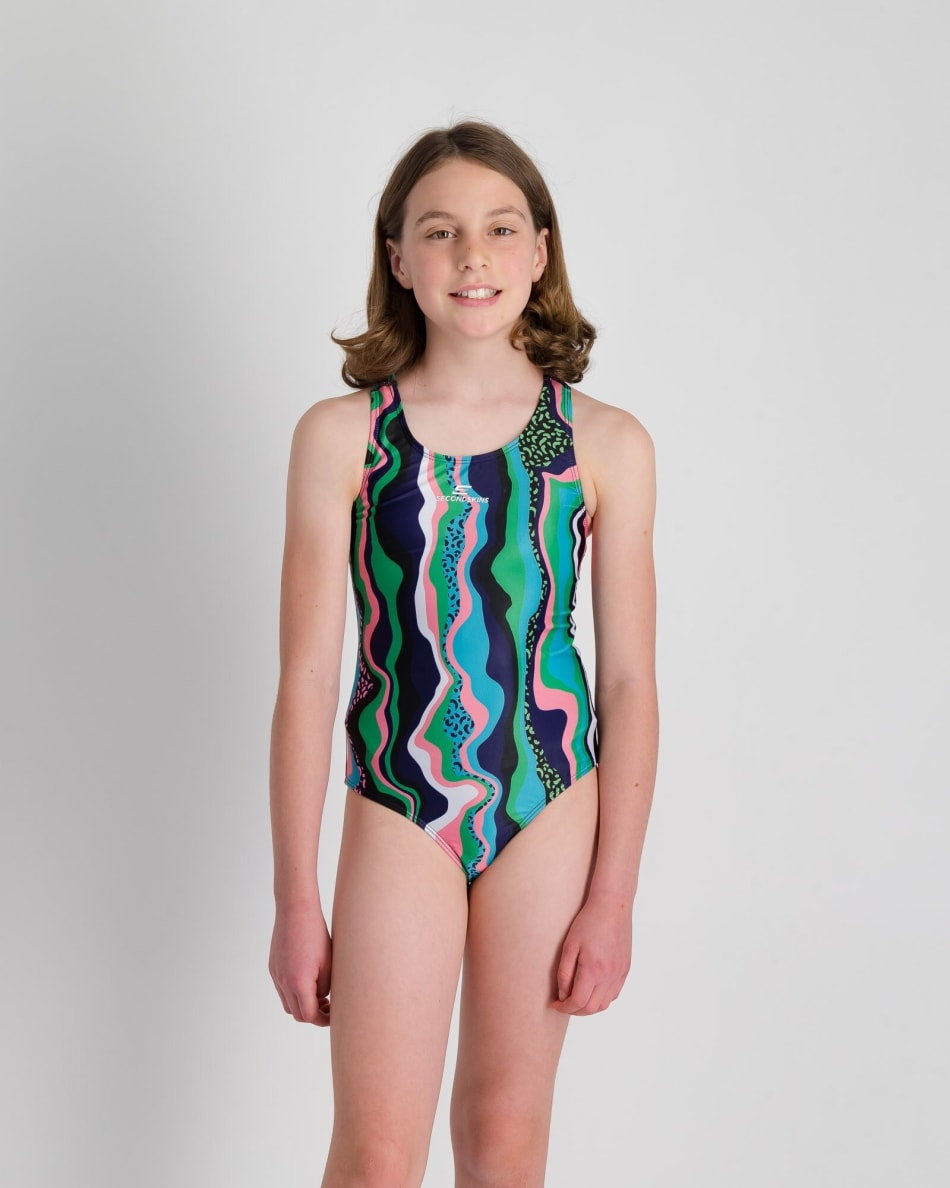 Second Skins Girls Rainbow Leopord 1 Piece, product, variation 1