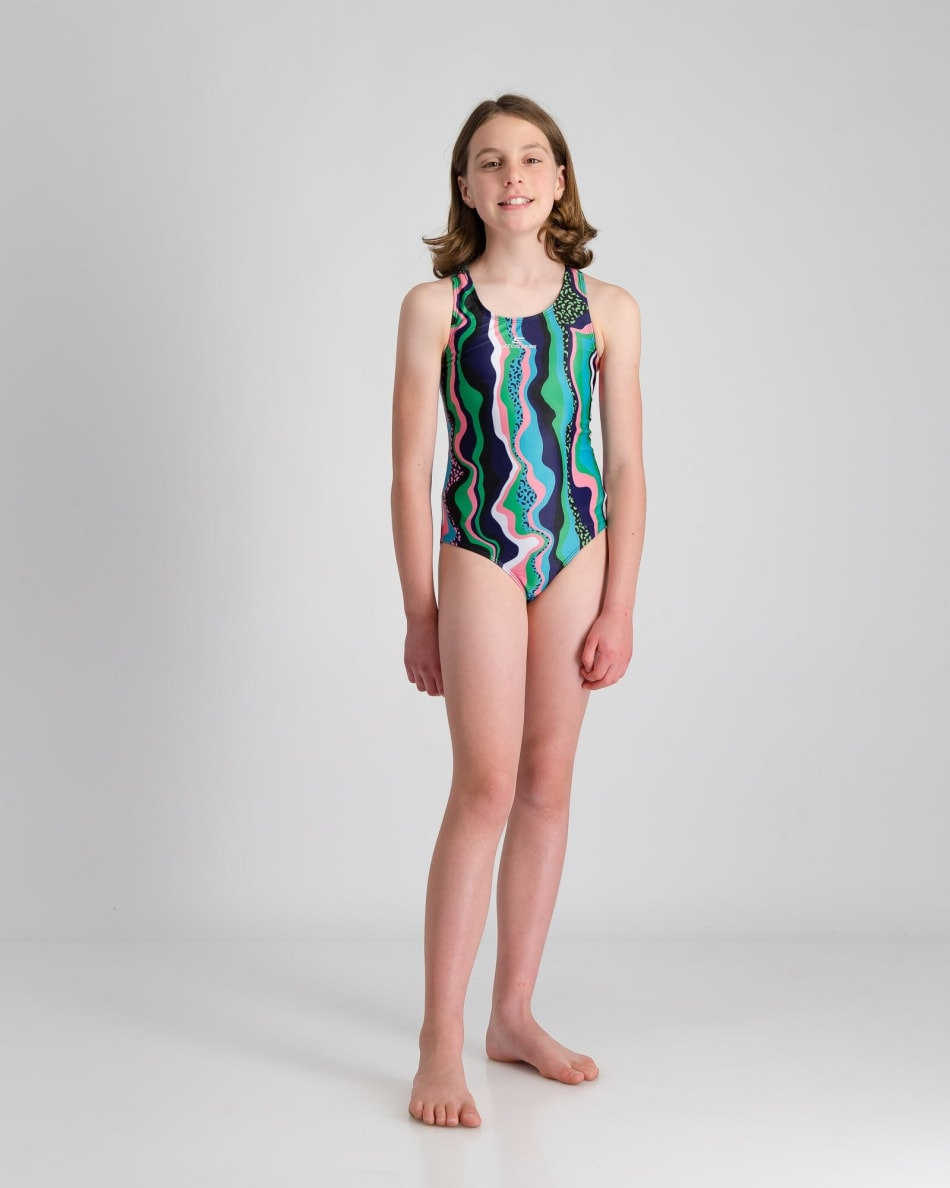 Second Skins Girls Rainbow Leopord 1 Piece, product, variation 3