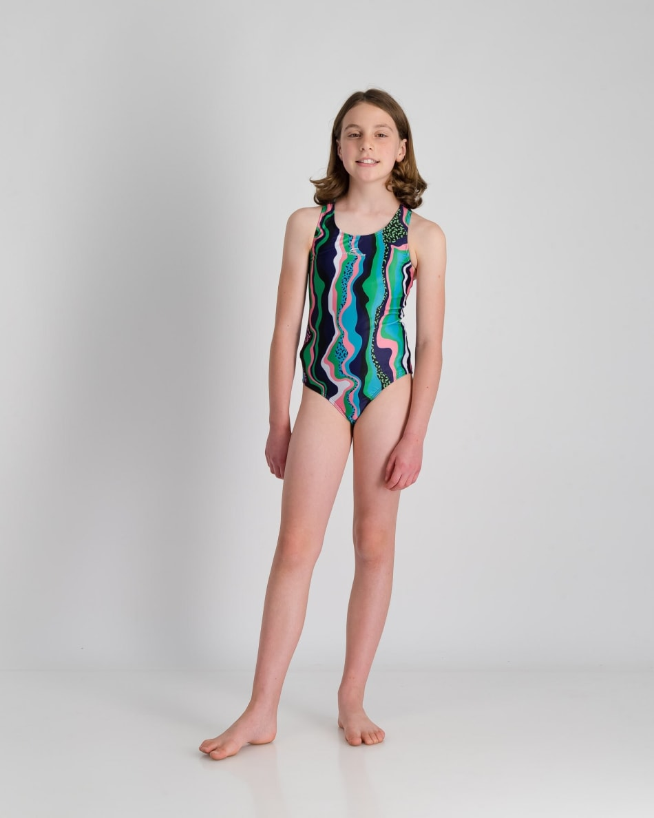 Second Skins Girls Rainbow Leopord 1 Piece, product, variation 4