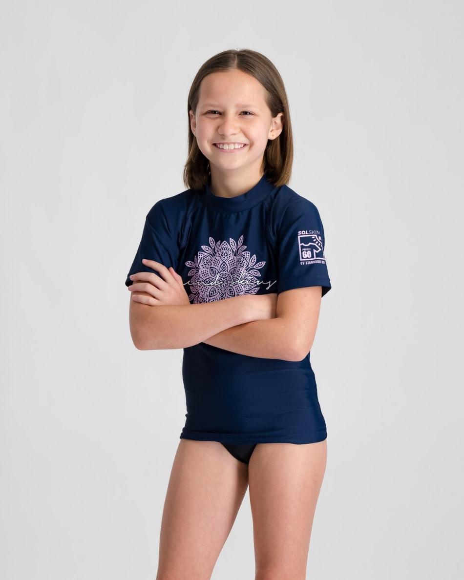 Second Skins Girls Center Mandala Short Sleeve Rashvest, product, variation 3
