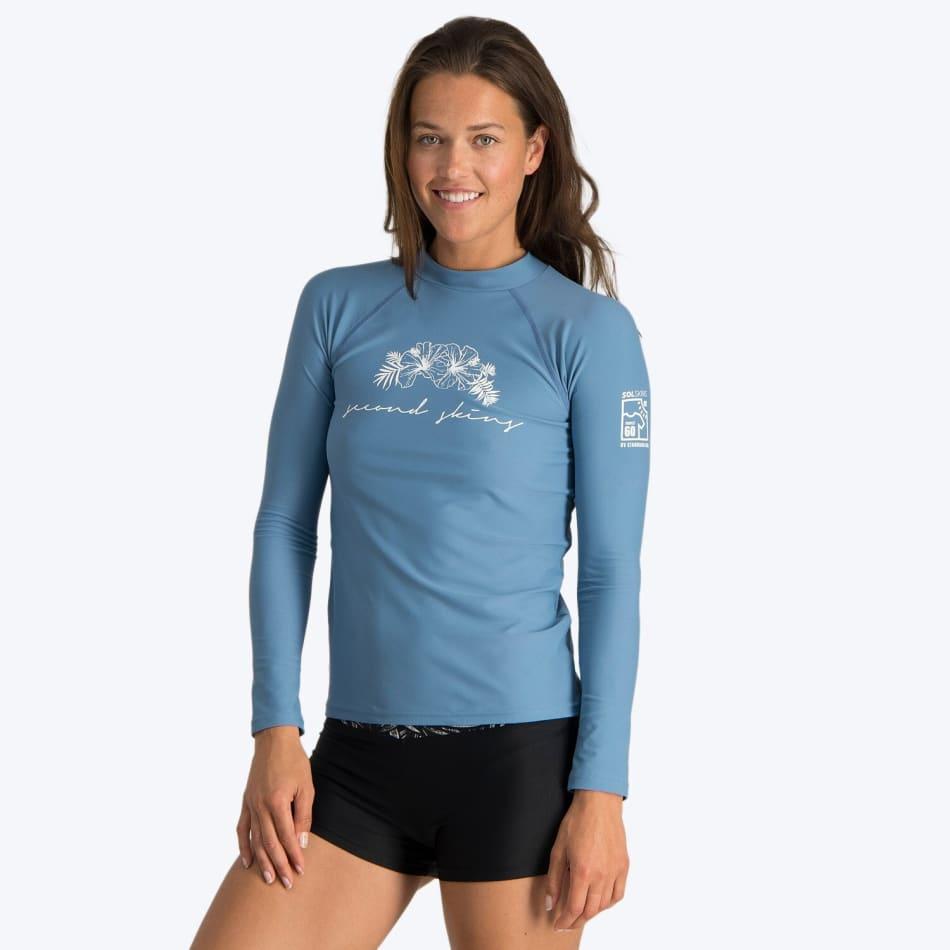 Second Skins Women's Floral Reef Long Sleeve Rashvest, product, variation 1