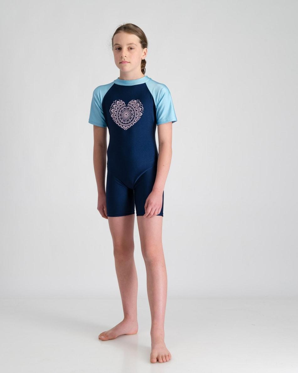 Freesport Girls Mandala Heart Sunsuit (5-10), product, variation 3