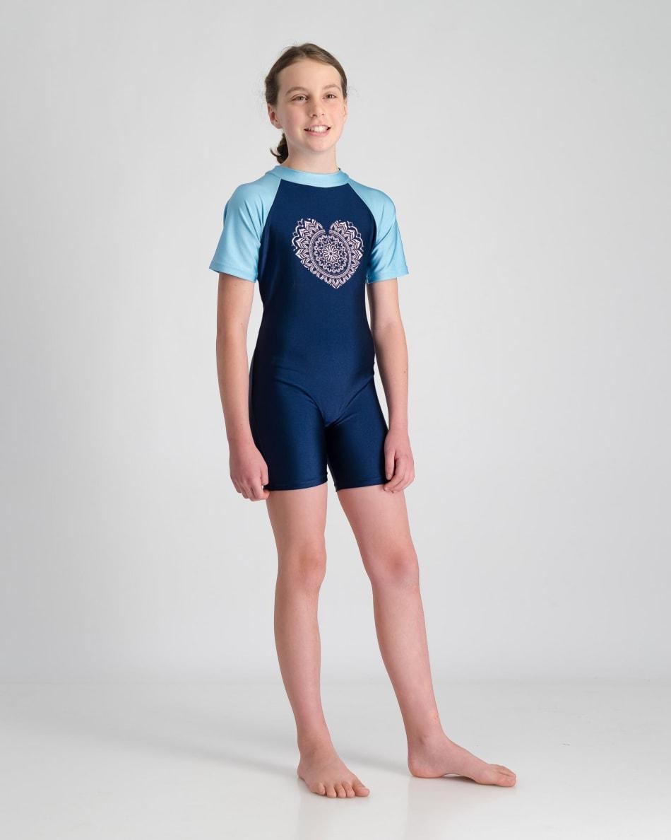 Freesport Girls Mandala Heart Sunsuit (5-10), product, variation 4