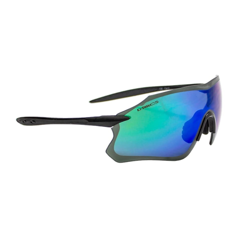 D`Arcs  Edge W Matte- Green Mirror Cycling Sunglasses, product, variation 1