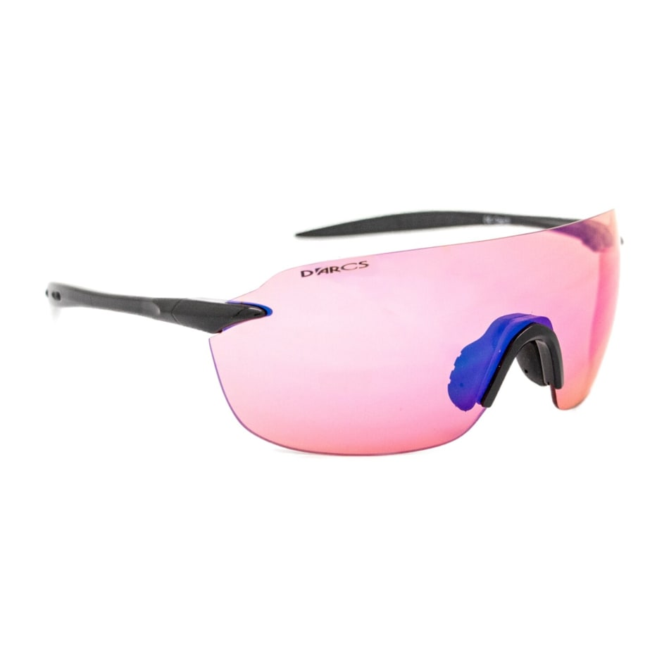 D`Arcs  Edge R Black Aura HD Purple mirror Cycling Sunglasses, product, variation 1