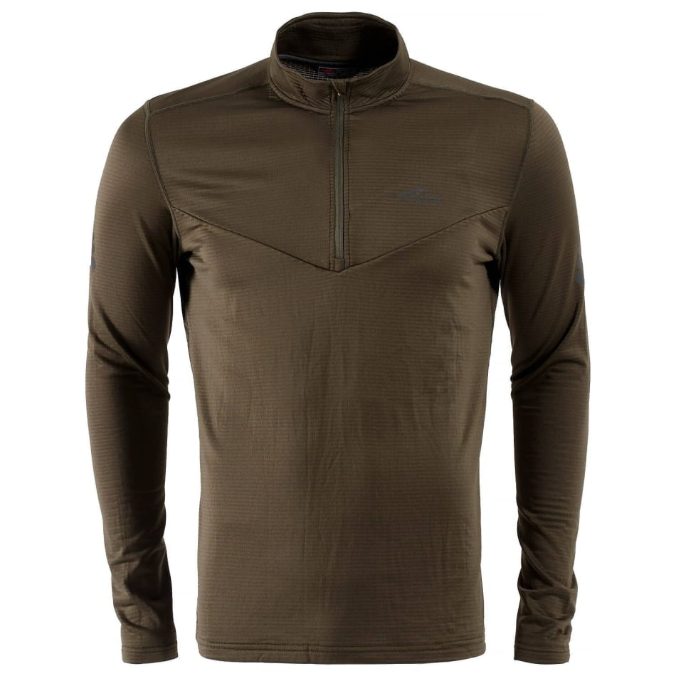 First Ascent Men's X-trail Grid 1/4 Zip Fleece Top, product, variation 1