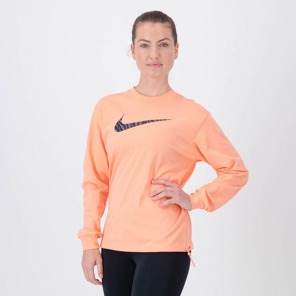 Nike Women's Icon Clash Long Sleeve Crop Sweat Top, product, variation 1