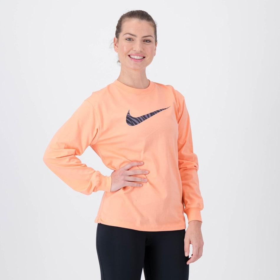 Nike Women's Icon Clash Long Sleeve Crop Sweat Top, product, variation 2