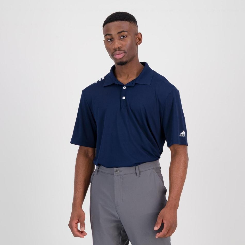 adidas Men's Golf 3 Stripe Polo, product, variation 4
