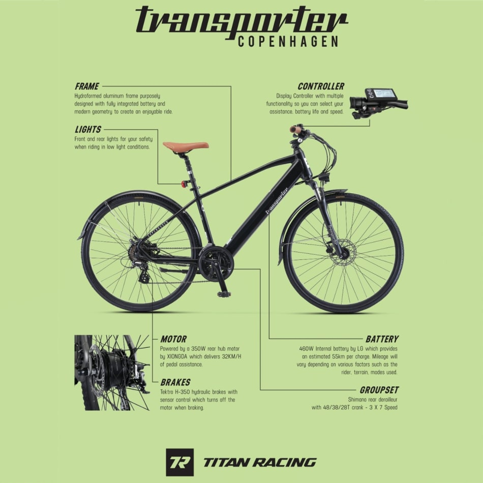 Titan E-Transporter Copenhagen Bike, product, variation 2