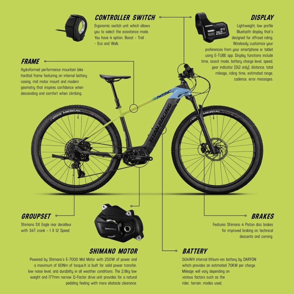 Titan Nitric SE E-Mountain Bike, product, variation 2