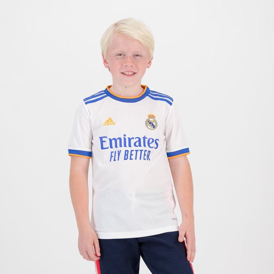Real Madrid Junior Home 21/22 Soccer Jersey, product, variation 2