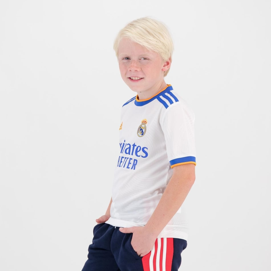 Real Madrid Junior Home 21/22 Soccer Jersey, product, variation 3