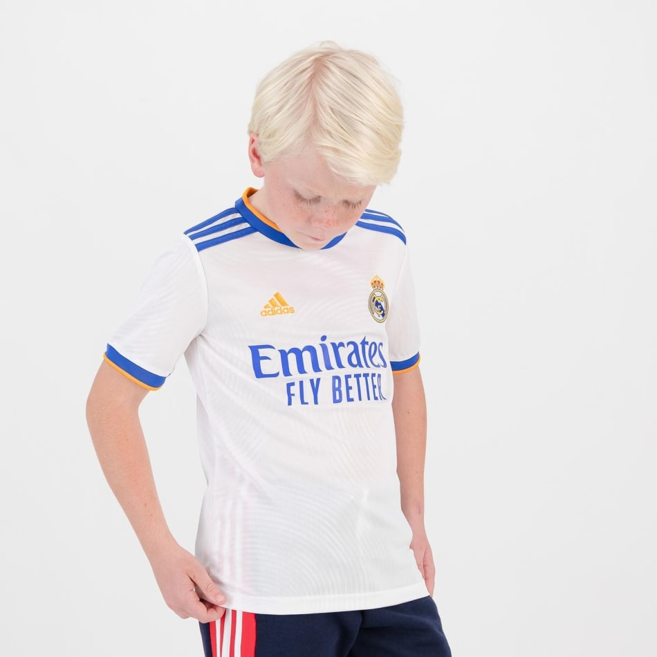 Real Madrid Junior Home 21/22 Soccer Jersey, product, variation 4