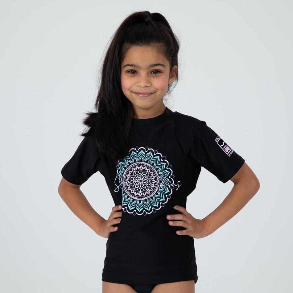 Second Skins Girls Mandala Short Sleeve Rasvest, product, variation 2