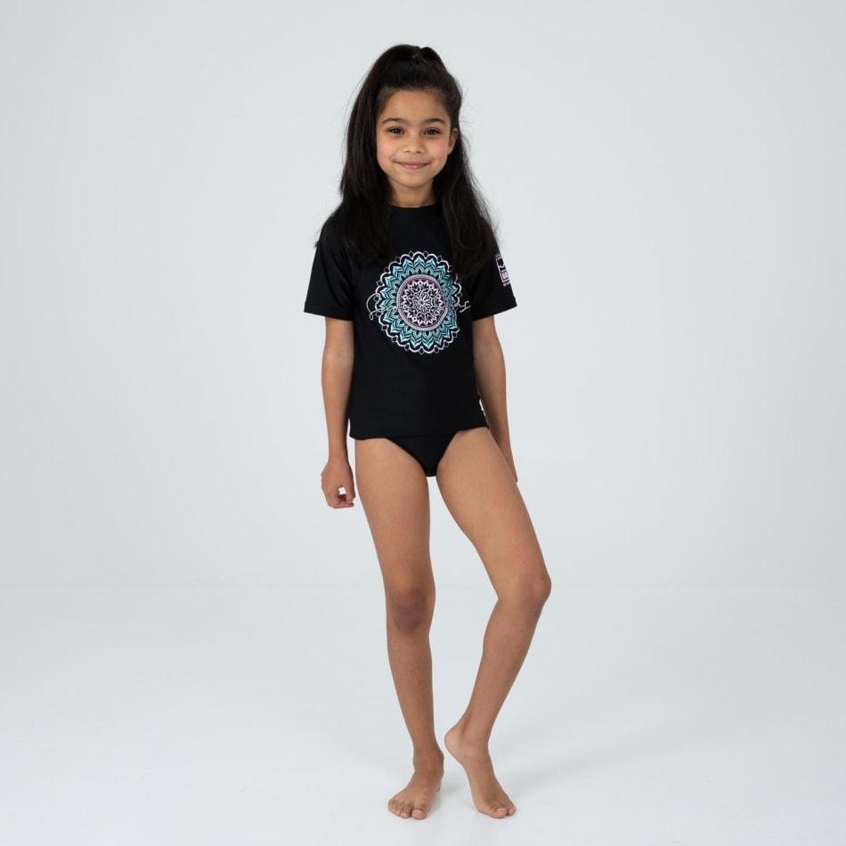 Second Skins Girls Mandala Short Sleeve Rasvest, product, variation 5