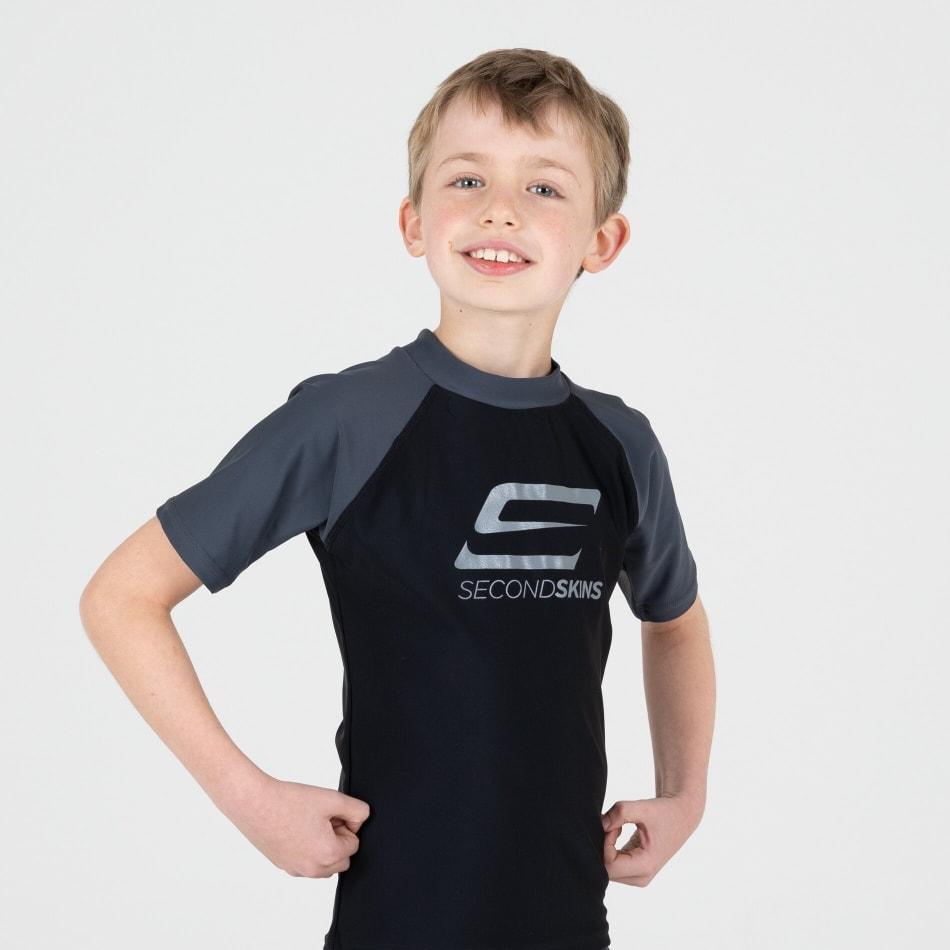 Second Skins Boys Iconic Short Sleeve Rasvest, product, variation 2