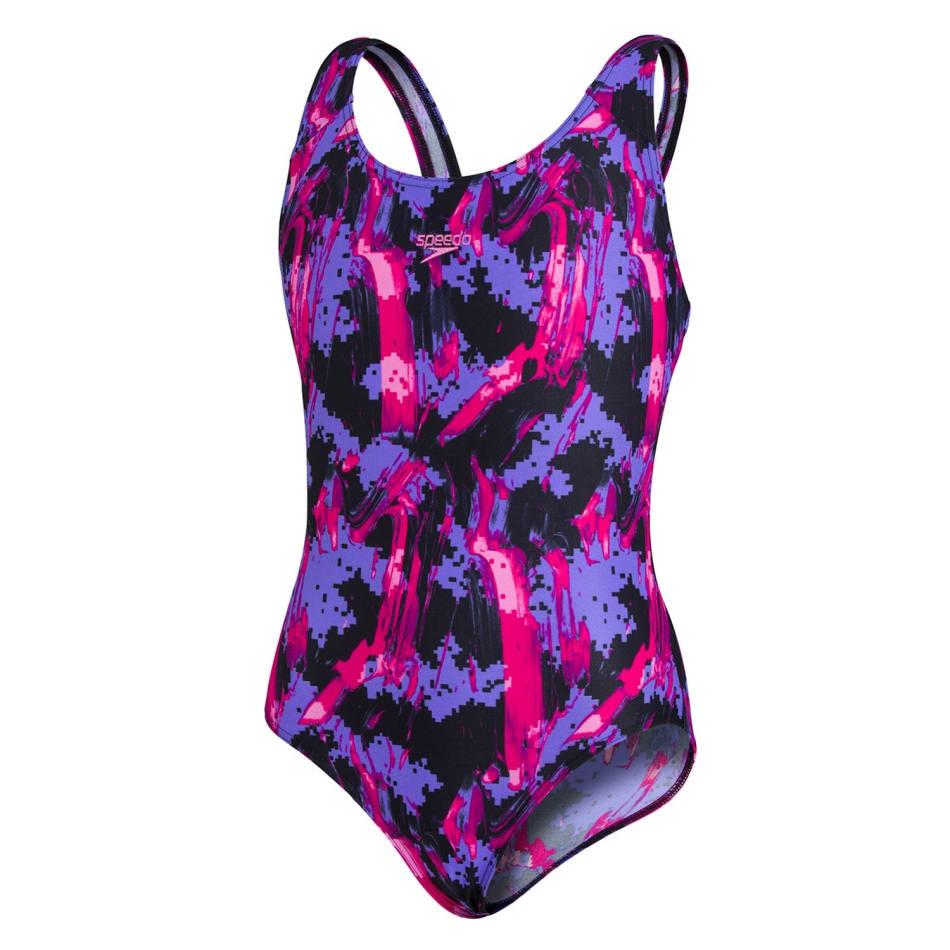 Speedo Girls Allover Splashback 1 Piece, product, variation 1