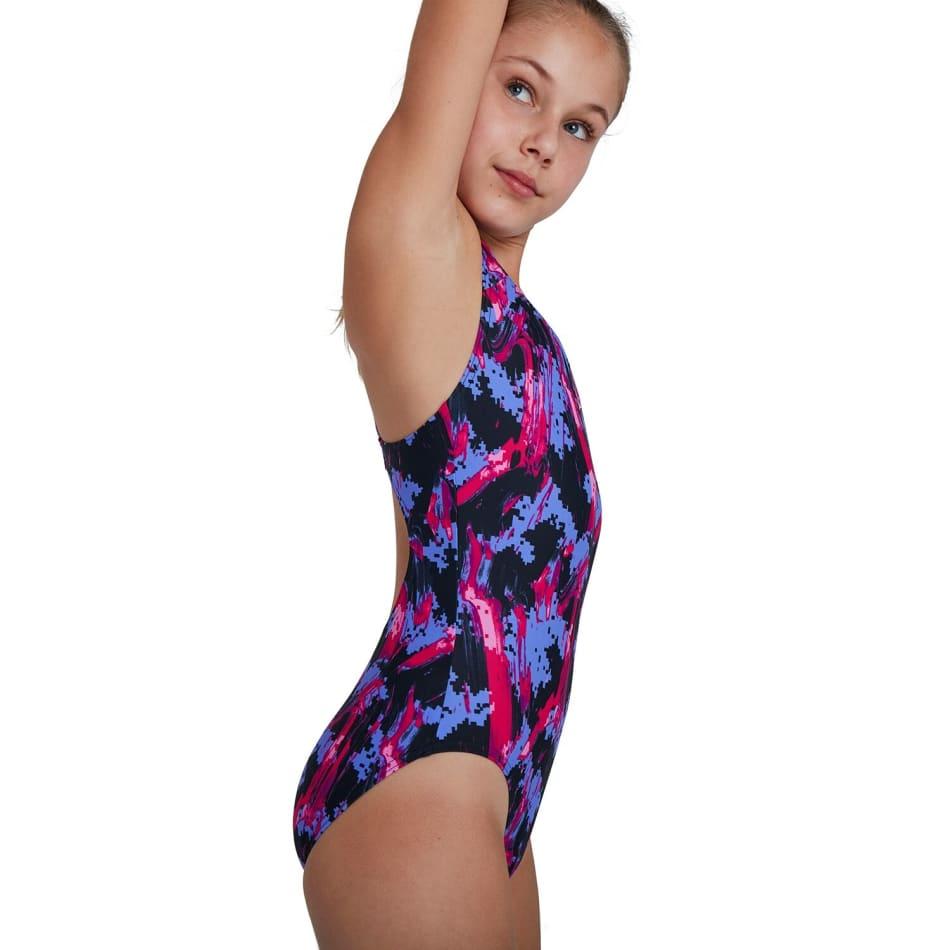 Speedo Girls Allover Splashback 1 Piece, product, variation 3