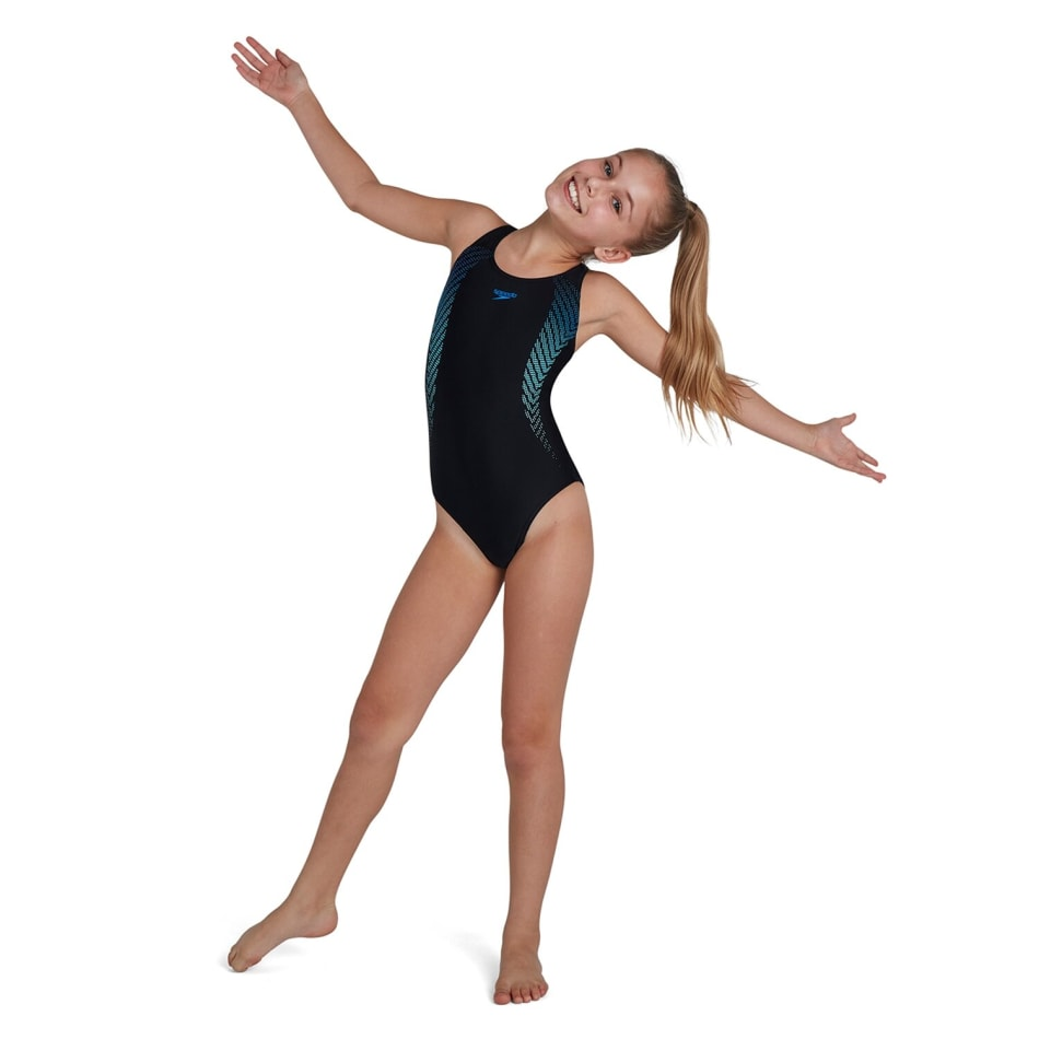 Speedo Girls Plastisol Placement Muscleback 1 Piece, product, variation 2