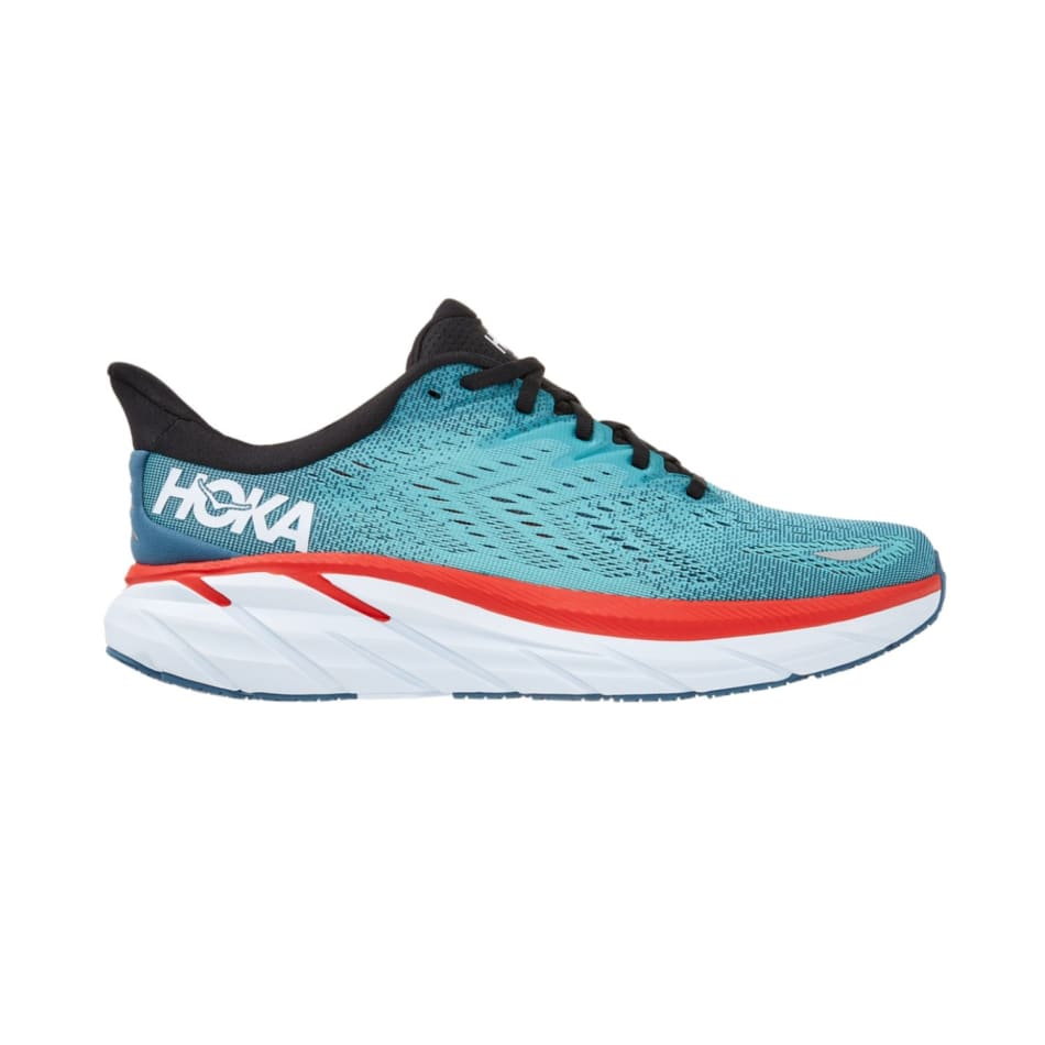 Hoka One One Men's Clifton 8 Wide Road Running Shoes, product, variation 1