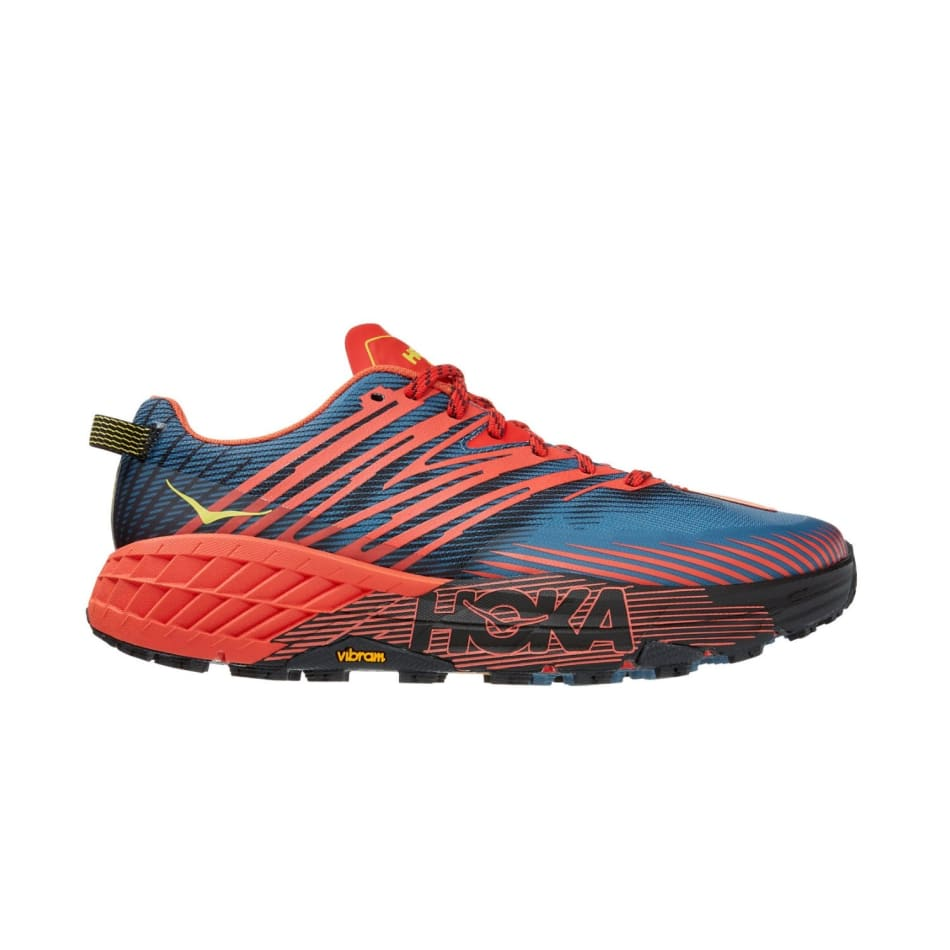 Hoka One One Men's Speedgoat 4 Wide Trail Running Shoes, product, variation 1