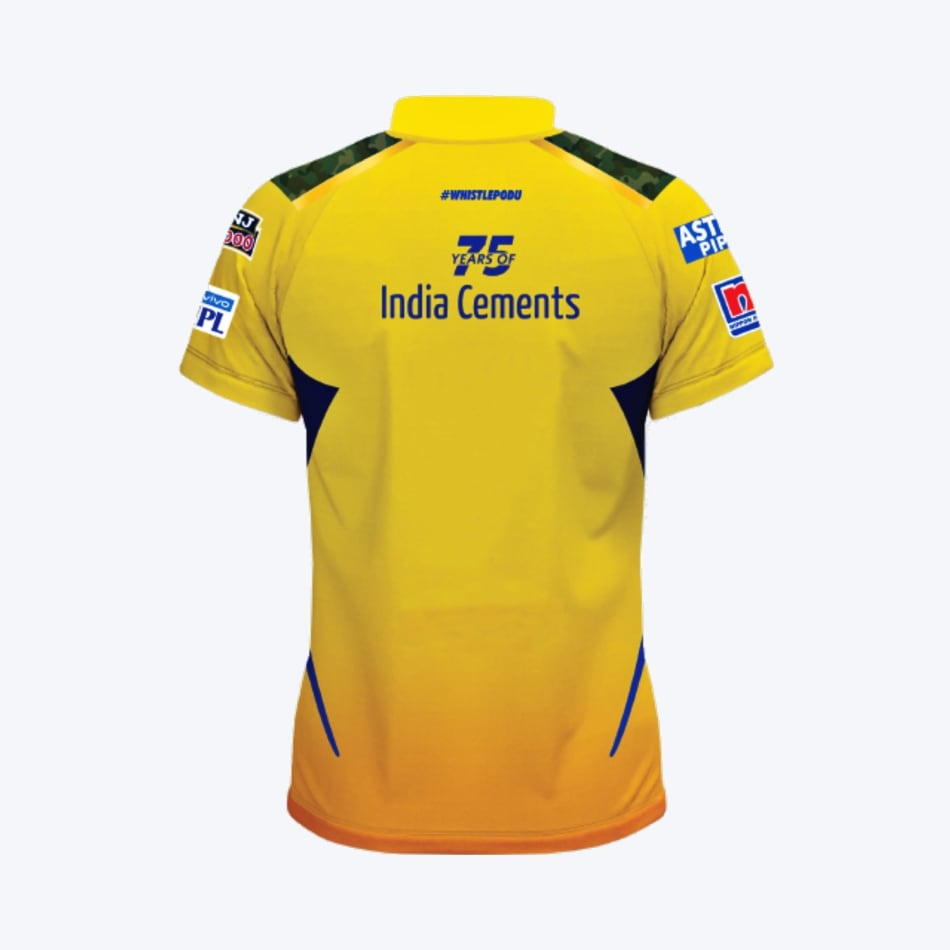 Chennai Super Kings Men's 2021 Match Jersey, product, variation 2