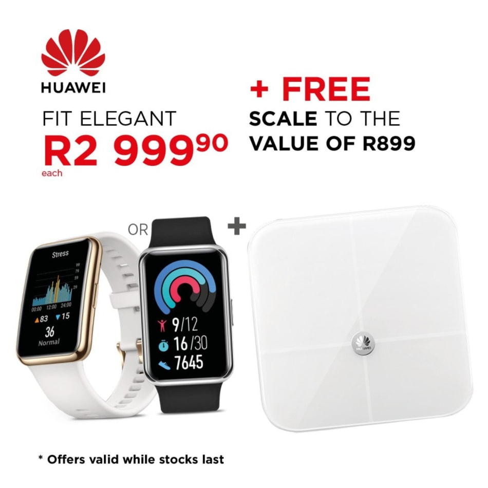 Huawei Watch Fit Elegant + Huawei Body Fat Scale, product, variation 2