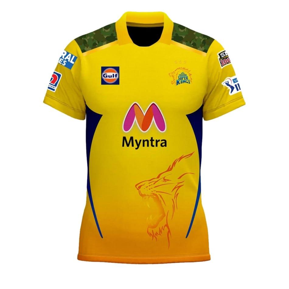 Chennai Super Kings Men's 2021 Match Jersey (Dhoni 7), product, variation 1