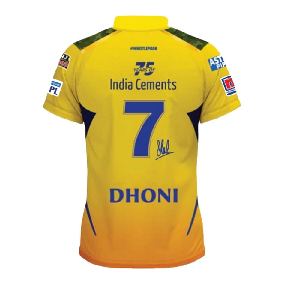 Chennai Super Kings Men's 2021 Match Jersey (Dhoni 7), product, variation 2