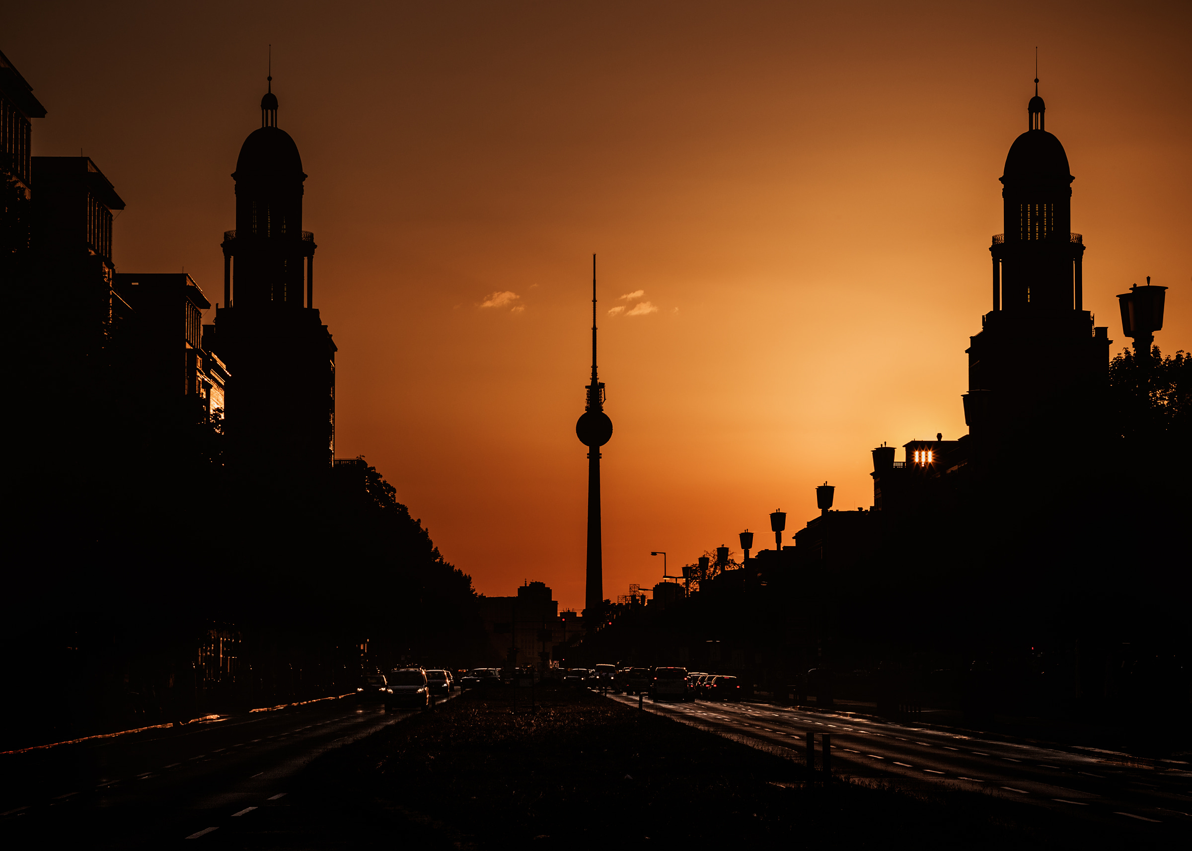 Frankfurter Tor at sunset