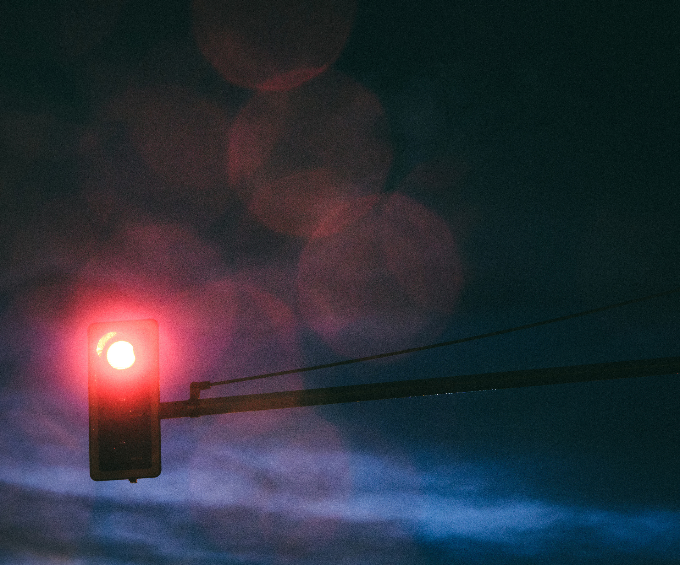 Red light at night
