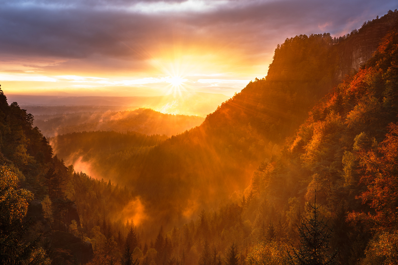 Sunset in Bohemian Switzerland