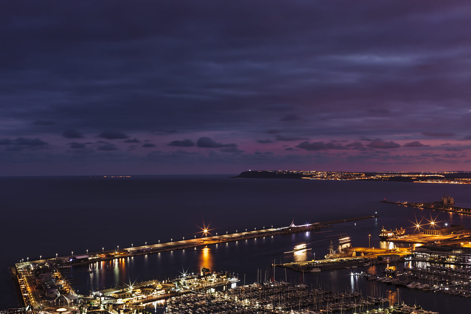 Alicante after sunset