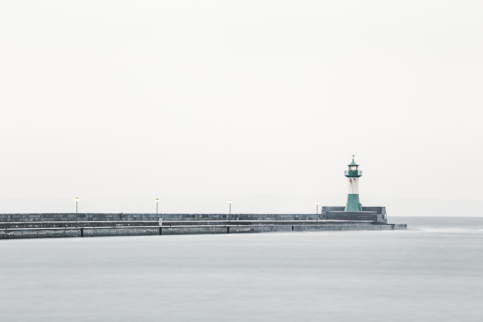 Sassnitz lighthouse in rain