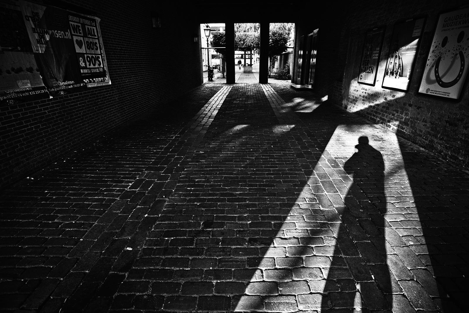 Shadow selfportrait in Utrecht
