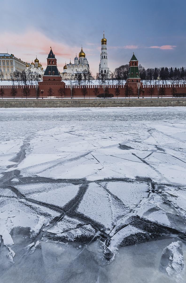 Winter Moscow sunrise