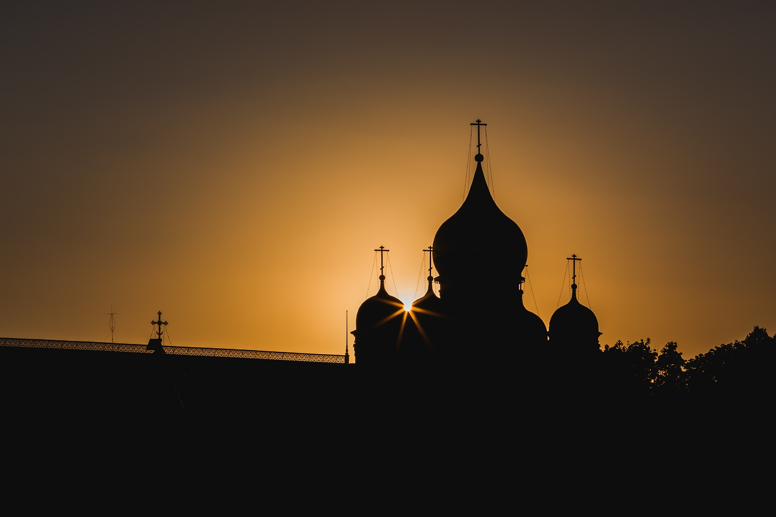 Cathedral of the Archangel at sunset