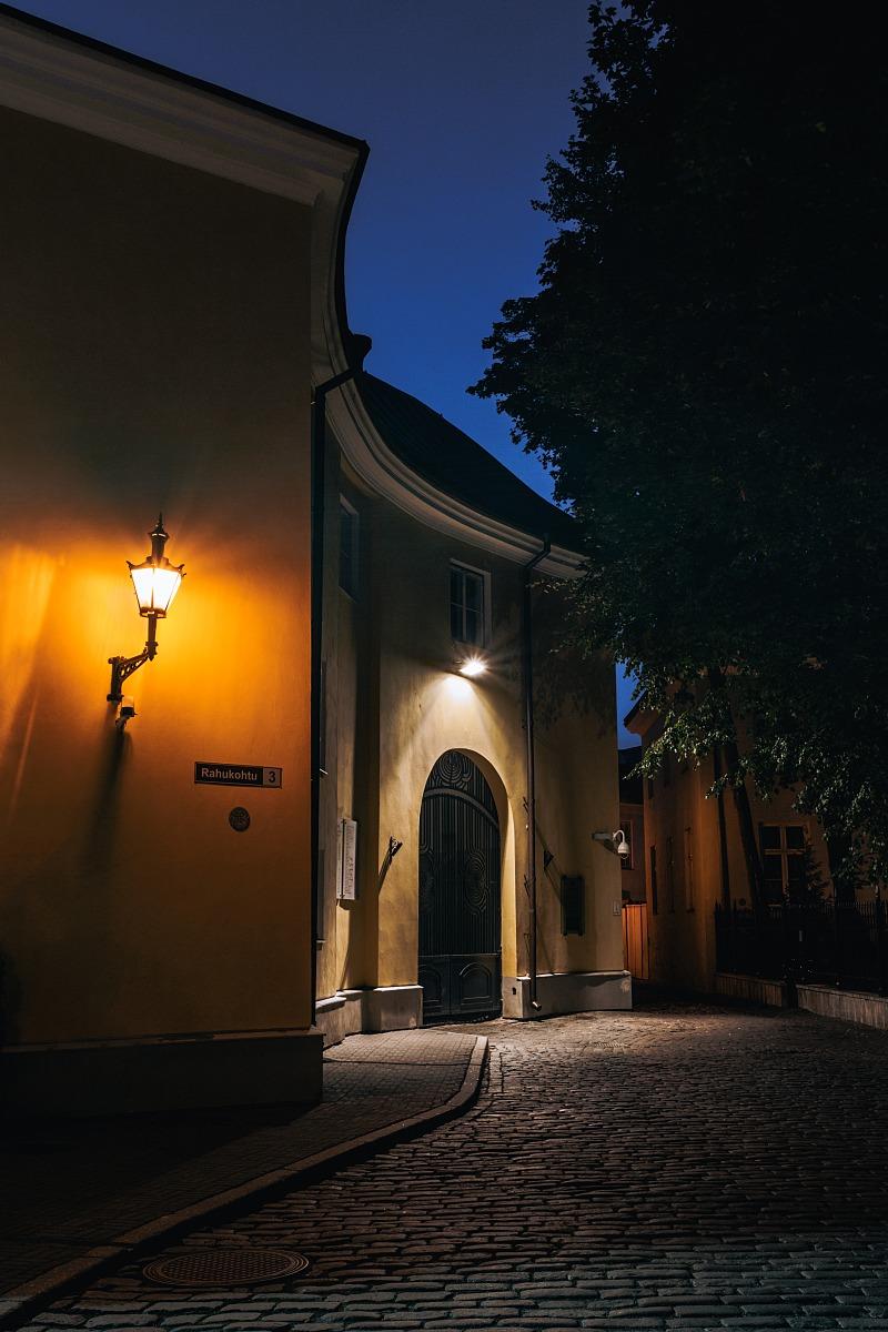 Tallinn Old Town at night